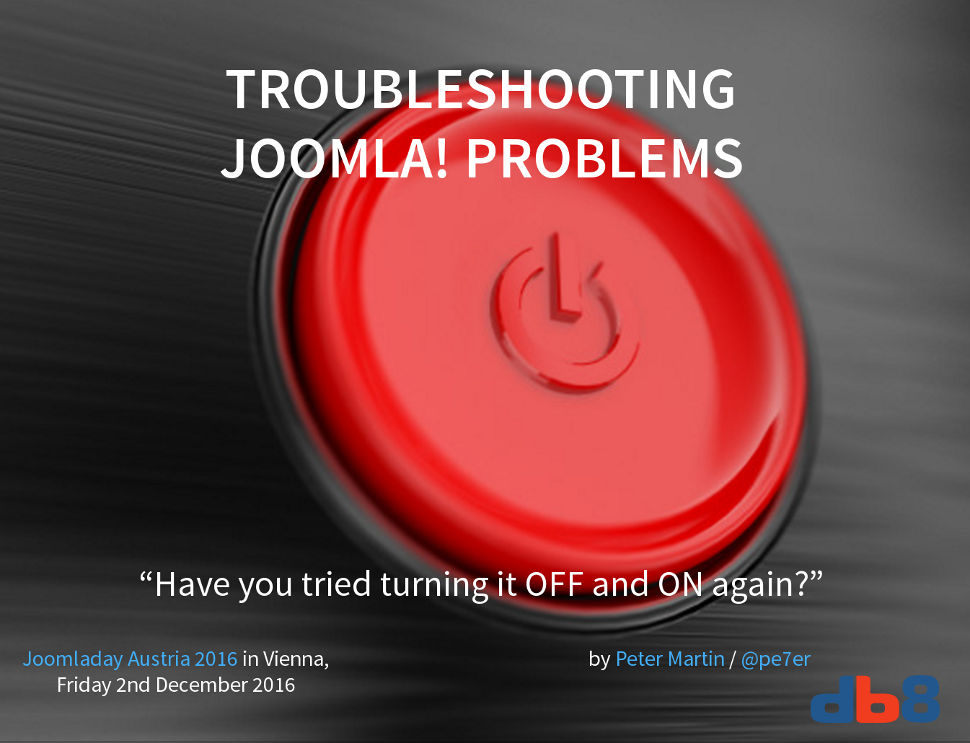 Troubleshooting Joomla problems